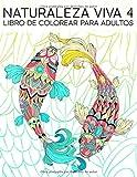 Naturaleza Viva 4: Libro De Colorear Para Adultos: 35 páginas con peces, búhos, ciervos, llamas, perezosos y más para la relajación y el alivio del estrés