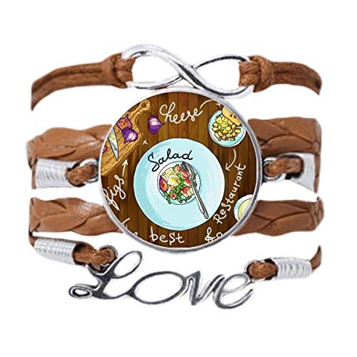 DIYthinker Salad Cheese Figs France Restaurant Bracelet Love Chain Rope Ornament Wristband Gift