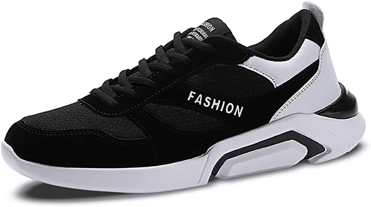 ZYFA Casual shoes Casual shoes mesh breathable lace-up shoes flat rubber soles wear running sneakers (color   B, Size   42)