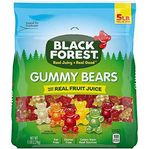 5lbs Black Forest Gummy Bears   $8.30 at Amazon