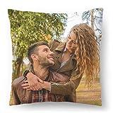 Cojín de Fotos con tu Foto y Texto Impresos 45 x 45 cm Regalo de Personalizado con su Propia Foto (con Relleno) Foto Full Print [091]