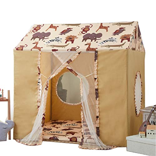 Tents Children's Camouflage Playhouse with Mat, House for Boys, Reading Corner Kids Play for Children 6 M+, Toys Teepees (Color : B, Size : 120 * 140 * 143CM)