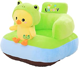 Baby Sofa Learn Sitting Chair Infant Support Seat Chair Cushion Sofa Cartoon Animal Plush Kids Toy Baby Sofa Protector Learning Sitting Chair Couch Bed Children Sofa Backrest Chair for Toldder Infant