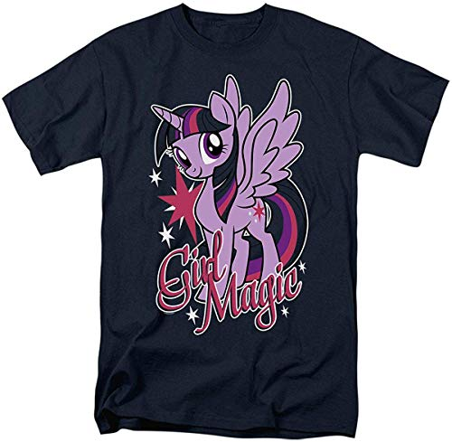Men's and Women's Short Sleeve T-Shirts Interesting Pattern My Little Pony Twilight Sparkle Girl Magic T Shirt Stickers M