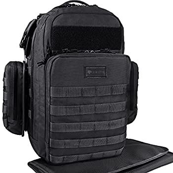 Dinictis 40L Diaper Bag Backpack for Dad,Tactical Travel Baby Nappy Bags for Men,Baby Accessories for Daddy- Tropical Black