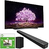 LG OLED55C1PUB 55 Inch 4K Smart OLED TV (2021 Model) Bundle with LG SN6Y 3.1 Channel High Res Audio Sound Bar + TaskRabbit Installation Services