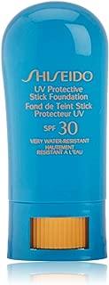 Shiseido SPF 30 UV-Protective Sunscreen Foundation Stick for Unisex, Beige, 0.31 Ounce