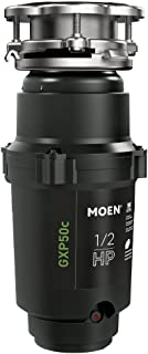Moen GXP50C GX PRO Series 1/2 HP Continuous Feed Garbage Disposal, Power Cord Included