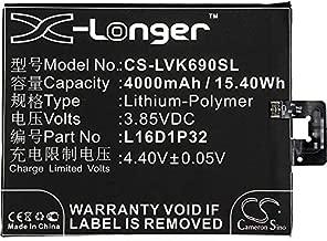 4000mAh Replacement Battery for Lenovo PB2-670N, PB2-690N, Phab 2, Phab 2 Pro