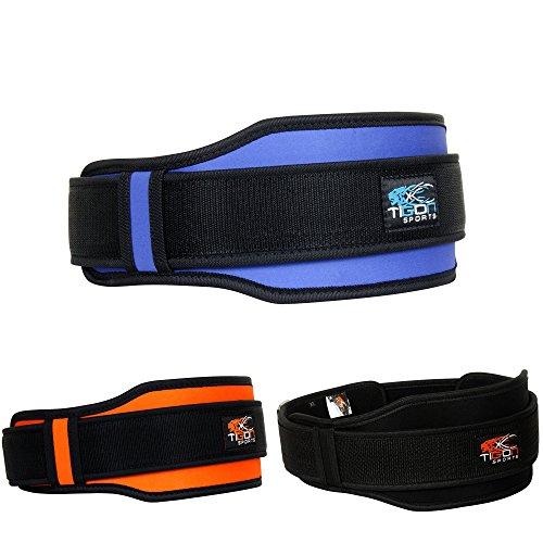 Tigone Sport Peso Sollevamento Cintura Fitness Palestra Allenamento Dolore tutore in Neoprene Doppia Cintura Blu, Blue