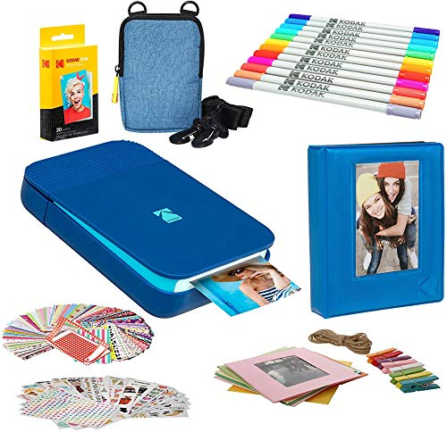Kodak Smile Instant Digital Printer (Blue) Photo Frames Bundle