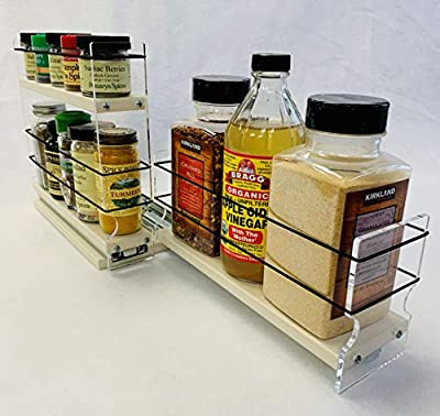 Vertical Spice - 23x1.5x11 DC - Combo 2 Tier Spice Rack Drawer and Storage Organizer Drawer - 23 x 1.5 x 11 by Vertical Spice