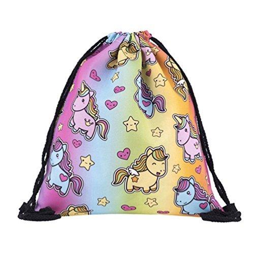 BeautyLife–& # x24C7; Las mujeres niñas mochila bolsa Colorful Unicorn Mochila Bolso...