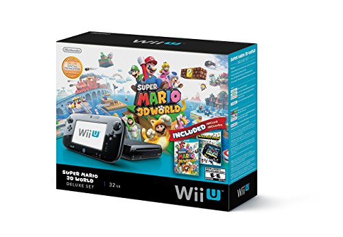 Nintendo Wii U Deluxe Set: Super Mario 3D World and Nintendo Land Bundle - Black 32 GB (Renewed)