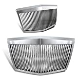 EPARTS Chrome Vertical Phantom Style ABS Front Bumper Hood Grill Grille Fit For 2005-2010 Chrysler...