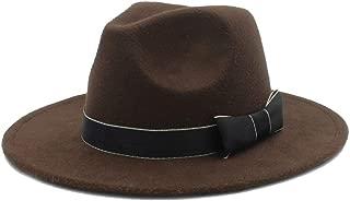 Men Women Winter Fedora Hat with Bowknot Pop Panama Church Fascinator Hat Casual Wild Jazz Hat Size 56-58CM` TuanTuan (Color : Coffee, Size : 56-58)