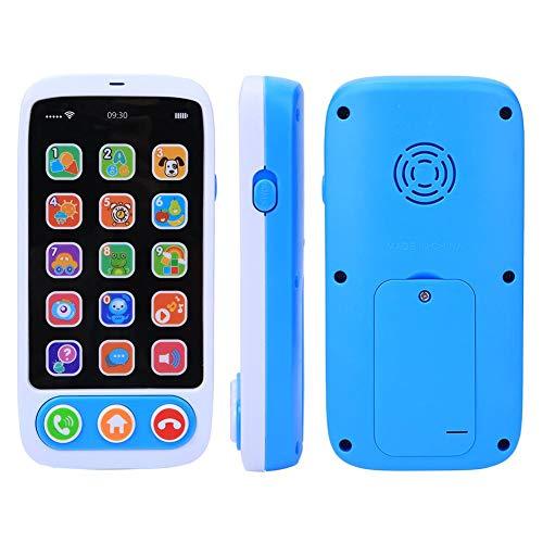 Wosune Juguete para Contar Historias, Juguete para teléfono con música, Ligero y Seguro, portátil Firme para niños y(686-9 English Tablet Music Phone Blue)