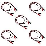 KYYKA Cables de prueba de pinza de cocodrilo, juego de cables de prueba de 1 m con clips de cocodrilo de doble extremo (5 grupos)