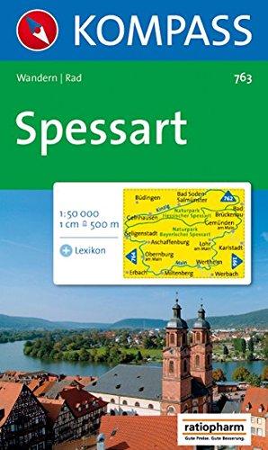 Spessart: Wanderkarte mit Kurzführer und Radwegen. 1:50000 (KOMPASS-Wanderkarten, Band 763)