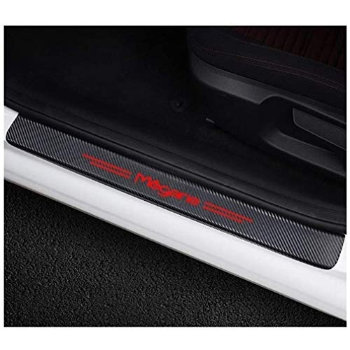 LOPLP Adesivi per battitacco sottoporta in Fibra di Carbonio per Renault Megane 2 3, Protezioni battitacco, Pedale di Benvenuto, pedaliera AntiGraffio, Accessori Auto, 4 Pezzi