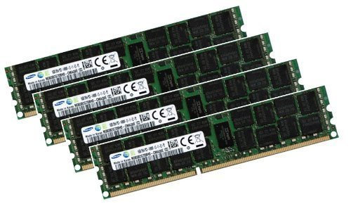 Samsung 64GB Quad Channel Kit 4 x 16 GB 240 pin DDR3 1866 ECC, Registered, DIMM (1866Mhz, PC3-14900R, CL14, 1.5V) - Apple ID 0x80CE - für Mac Pro 6,1 / Server
