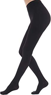 Song Qing Women's Compression Pants 23-32 mmHg Pantyhose for Varicose Veins (Medium, Black)