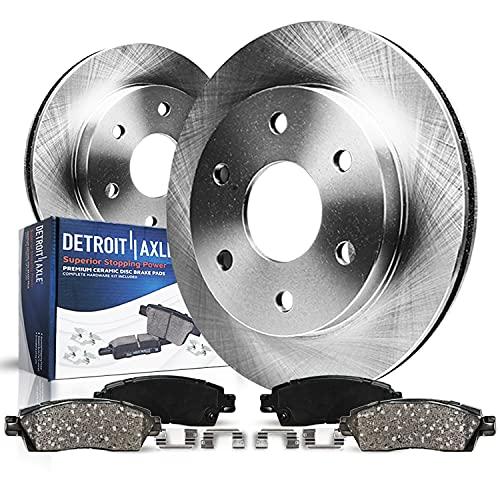Detroit Axle - Front Disc Replacement Brake Kit Rotors Ceramic Pads w/Hardware...