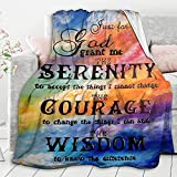Inspirational Bible Verse Throw Blanket Scripture Christian Gift for Women Super Soft Healing Religious Fleece Blanket Couch Sofa Bed 40x50 Inch