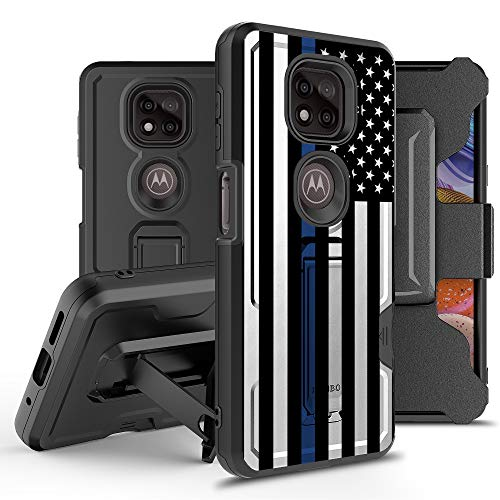 """BEYOND CELL Armor Kombo Case Compatible with Moto G Power 2021 (6.6"""") Case, Hybrid Rugged Heavy Duty Protective Phone Case, Shockproof Drop Protection with Belt Clip Holster & Kickstand."""