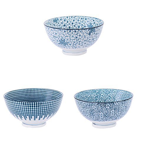 Table Passion - Coupelle 11.5cm denim porcelaine (lot de 3)
