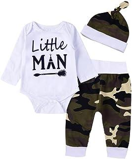 Xiantime Neugeborenes Kleidung Baby Kleidung Set Neugeborene Jungen Mädchen Kurzarm Drucken Strampler Overall TopsBeinwärmerStirnband Romper Outfits Spielanzug Set Xinantime