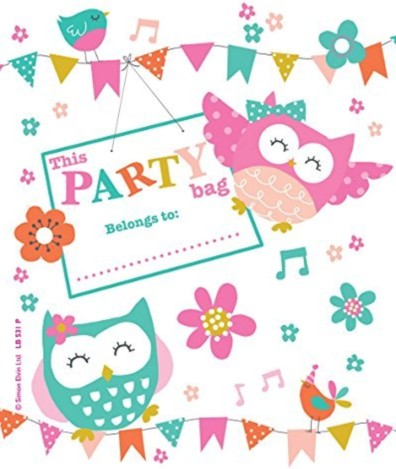 Birthday Party Loot Bags (Pack of 10) - Fairy Princess by Creative
