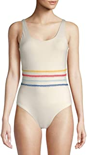 Dolce Vita Womens Embroidered Scoop One-Piece Swimsuit