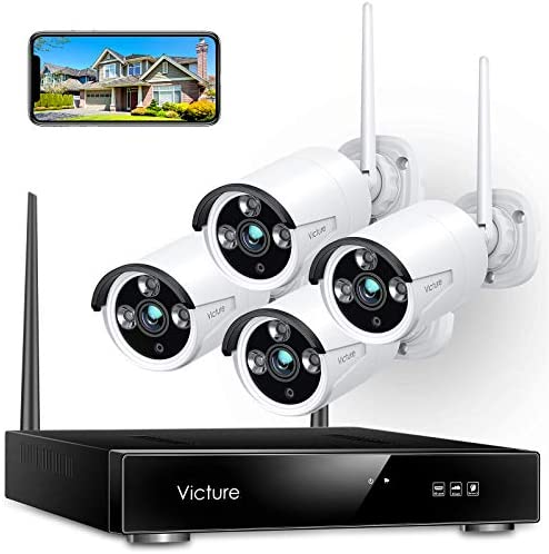 Wireless Security Camera System Victure 1080P 8 Channel NVR 4PCS Outdoor WiFi Surveillance Camera product image