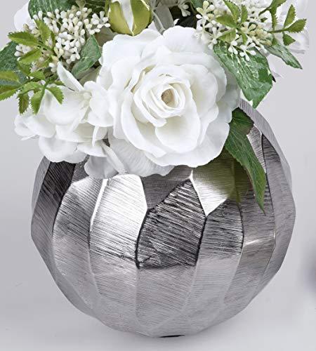 formano Aluminium Kugelvase Piazza D. 16cm Silber Metall F20