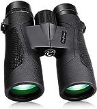 Prismaticos Profesionales, 10x42 HD Prismaticos Vision Nocturna Débil con Adaptador de Teléfono, Prismas BAK4 y FMC. Ideales para Observación de Aves, Caza, Senderismo, Astronomía y Camping.