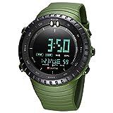 SAILINE - Reloj de Pulsera Digital para Hombre, con Carcasa de plástico, electrónico, Resistente al Agua, LED, Deportivo, multifunción (Green)