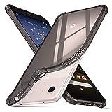 ORNARTO Hülle für Pixel 3a XL,Transparent Soft TPU Silikon Handyhülle Vier Ecke Kante Stoßdämpfung Design Kratzfest Durchsichtige Schutzhülle für Google Pixel 3a XL(2019) 6,0 Zoll Schwarz