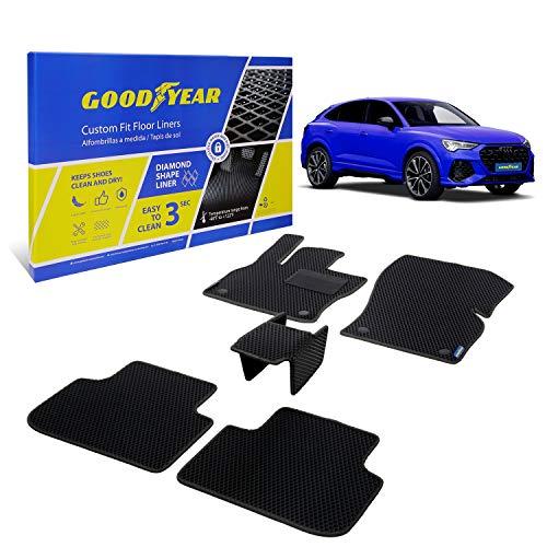 Goodyear Set di 4 tappetini auto per Audi Q3 Sportback 2020-2021, serie 1° e 2° Series, accessori per auto, tappetini per auto, tappetini e tappeti, tappetini auto shwartz