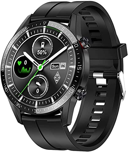 Bengux Smartwatch Uomo,Orologio Intelligente con 1.3'' Schermo a Colori tattile Completo IP68 Fitness Tracker Cardiofrequenzimetro Pressione Sanguigna Monitor Ossigeno per Android e iOS (Nero)