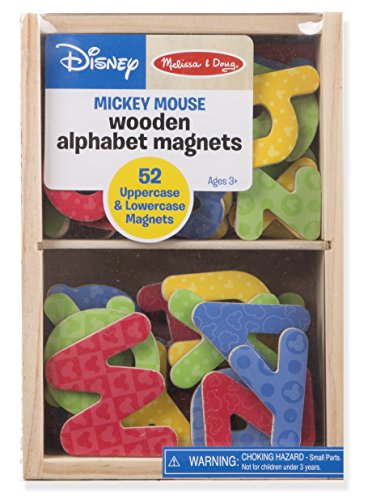Melissa & Doug Disney Wooden Letter Alphabet Magnets (Developmental Toys, Sturdy Wooden Construction, 52 Pieces, Great Gift for Girls and Boys - Best for 2, 3, and 4 Year Olds)