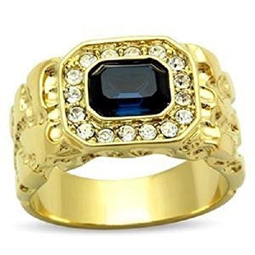 Yourjewellerybox - Anillo con detalle de diamante falso, talla 21,5 (19,58 mm)