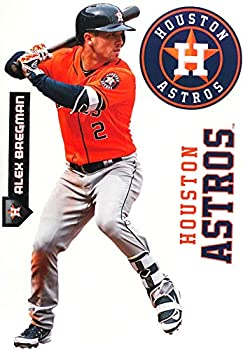 Alex Bregman FATHEAD + Houston Astros Logo Set Official MLB Vinyl Wall Graphics 17  INCH