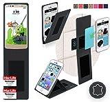 reboon Hülle für LG Stylus 2 Plus Tasche Cover Hülle Bumper | Schwarz Leder | Testsieger
