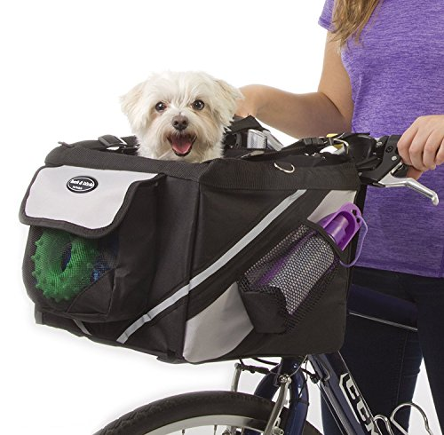 Jack and Dixie Traveler 2-in-1 Pet Bike Basket and...