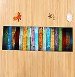 [page_title]-Tomatoa Designer Teppich Moderner Teppich Wohnzimmer Teppich Wohnzimmer Bunt Trendig Meliert Multicolour Schmutzfangmatte Designerteppich Kurzflor Teppich Kinderteppich (60 * 180CM)