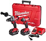 Milwaukee 2796-22 M18 FUEL ONE-KEY 18-Volt Lithium-Ion Brushless Cordless Hammer Drill/Impact Driver...
