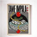 NC68 Tame Impala bei Glastonbury Gig Poster Bunte Musik