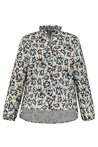 Ulla Popken Damen große Größen Bluse beige 46+ 751347 22-46+