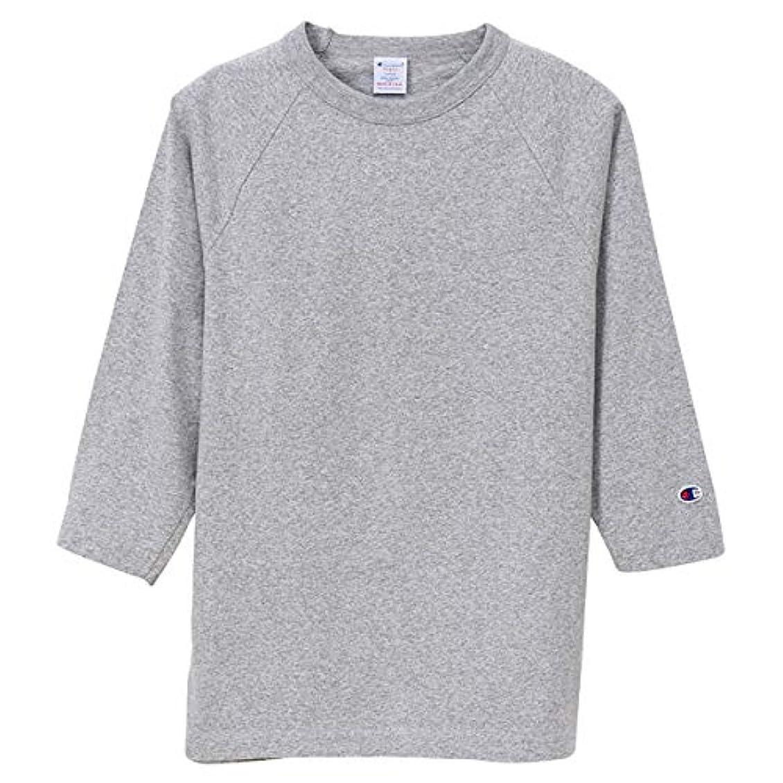 文庫本忘れるどのくらいの頻度でチャンピオン Tシャツ 7分袖 メンズ CHAMPION T1011 ラグラン3/4スリーブ 19SS MADE IN USA オックスフォードグレー